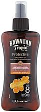 Perfumería y cosmética Aceite seco bronceador en spray con coco y papaya - Hawaiian Tropic Protective Dry Oil Spray SPF 8