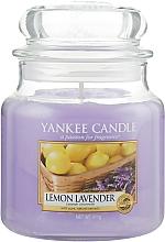 Perfumería y cosmética Vela aromática en tarro, limón y lavanda - Yankee Candle Lemon Lavender