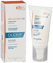 Perfumería y cosmética Crema protectora solar antipigmentación para pieles secas, SPF 50+ - Ducray Melascreen UV Rich Cream SPF 50+