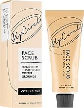 Perfumería y cosmética Exfoliante facial natural con cafeína y aceites cítricos - UpCircle Coffee Face Scrub Citrus Blend