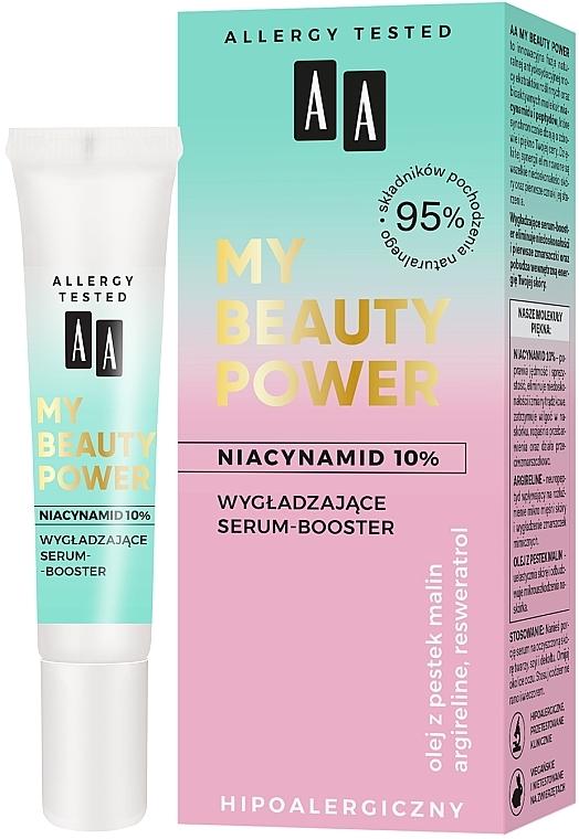 Sérum booster facial hipoalergénico con extracto de acerola y 10% de niacinamida - AA My Beauty Power Niacinamide 10% Smoothing Serum-Booster