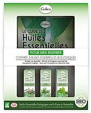 Perfumería y cosmética Set aceites esenciales bio orgánicos de ciprés, eucalipto y menta - Galeo To Help You Breath Gift Set (3uds.x10ml)