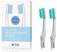Perfumería y cosmética Cabezales de cepillo de dientes suaves intercambiables, gris, 2 uds. - TIO Toothbrush Soft