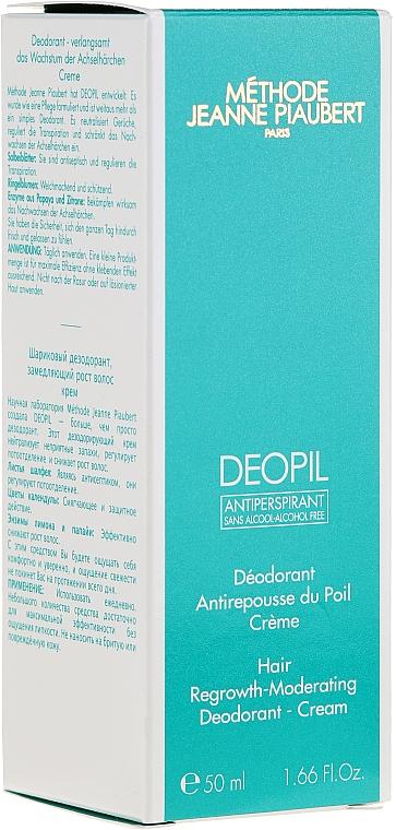 Crema antitranspirane reguladora del crecimiento del vello - Methode Jeanne Piaubert Deopil Creme Alcohol-Free Antiperspirant — imagen N1
