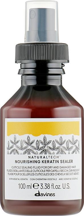 Fluido para cabello nutritivo con queratina vegetal - Davines Natural Tech Nourishing Keratin Booster