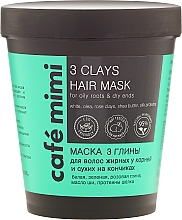 Perfumería y cosmética Mascarilla capilar natural con manteca de karité, proteínas de seda y arcillas rosa, verde y blanca - Cafe Mimi Mask