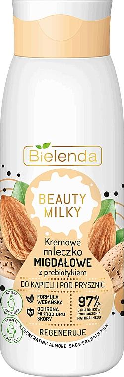 Leche regeneradora de baño y ducha con aceite de almendras - Bielenda Beauty Milky Regenerating Almond Shower & Bath Milk