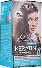 Perfumería y cosmética Set para cabello - Kativa Anti-Frizz Straightening Without Iron Xpert Repair (mascarilla/150ml + champú/30ml + acondicionador/30ml)