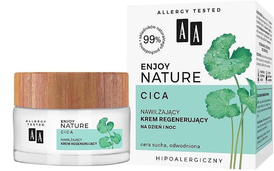 Crema facial regeneradora con extracto de centella asiática, hipoalergénica - AA Enjoy Nature Cica Moisturising Regenerating Cream