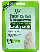 Perfumería y cosmética Mascarilla calcetines con extracto de árbol de té y menta - Xpel Marketing Ltd Tea Tree & Peppermint Deep Moisturising Foot Pack