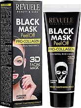 Perfumería y cosmética Mascarilla negra 3D facial peel of con vitamina E y carbón activo - Revuele Black Mask Peel Off Pro-Collagen