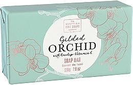 Perfumería y cosmética Jabón sólido con vitamina E y aceite de rosa mosqueta, aroma a orquídea - Scottish Fine Soap Gilded Orchid Luxury Wrapped Soap