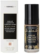 Perfumería y cosmética Base de maquillaje líquida hidratante con efecto lifting - Korres Black Pine Lifting, Firming & Brightening Foundation