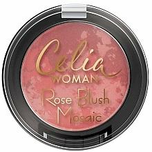 Perfumería y cosmética Colorete compacto, mosaico tricolor - Celia Woman Rose Blush Mosaic