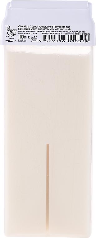 Cartucho de cera depilatoria liposoluble roll-on, pieles sensibles - Peggy Sage Cartridge Of Fat-Soluble Warm Depilatory Wax Blanc