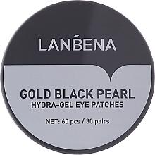 Perfumería y cosmética Parches de hidrogel para contorno de ojos con colágeno - Lanbena Gold Black Pearl Collagen Eye Patch
