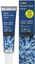 Perfumería y cosmética Mascarilla facial seborreguladora con extracto de corteza de canela, pantenol - Tolpa Dermo Face Sebio Night Blocker Sebum Mask