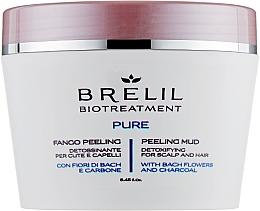 Perfumería y cosmética Peeling de barro para cuero cabelludo con carbón vegetal y flores de bach - Brelil Bio Traitement Pure Peeling Mud