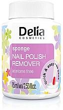 Perfumería y cosmética Quitaesmalte con esponja sin acetona - Delia Sponge Nail Polish Remover Acetone Free
