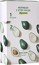 Perfumería y cosmética Mascarilla facial bifásica con aguacate - Village 11 Factory Refresh 2-Step Mask Green