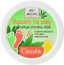 Perfumería y cosmética Bálsamo hidratante para talones con aceite de argán y cáñamo - Bione Cosmetics Cannabis Heel Balm Removes Hard Skin