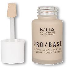 Perfumería y cosmética Base de maquillaje de cobertura completa y larga duración con efecto mate - MUA Pro Base Long Wear Matte Finish Foundation