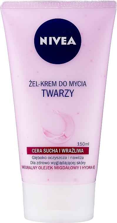 Gel crema facial limpiadora con aceite natural de almendra - Nivea Visage Cleansing Soft Cream Gel