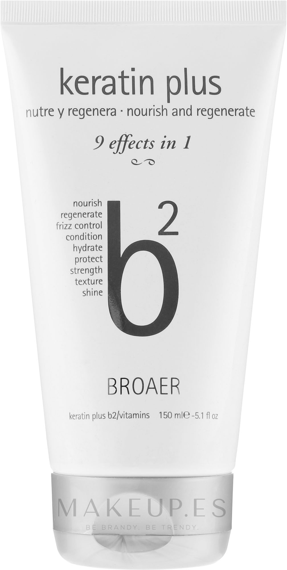 Champú nutritivo con queratina y vitaminas - Broaer B2 Keratin Plus Nourish And Regenerate Shampoo — imagen 150 ml