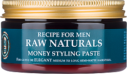 Perfumería y cosmética Pasta modeladora de cabello con cera de carnauba y extracto de lúpulo - Recipe For Men RAW Naturals Money Styling Paste