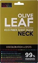 Perfumería y cosmética Mascarilla natural de tejido para cuello - Beauty Face IST Booster Neck Mask Olive Leaf