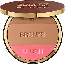 Perfumería y cosmética Polvo facial compacto 3 en 1 - Pupa Sculpt Bronze Blush