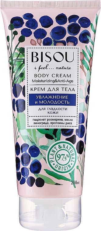 Crema corporal hidratante y antiedad con proteínas de arroz - Bisou Moisturizing and Anti-Age Body Cream