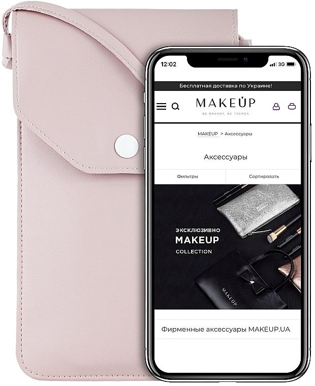 Funda para teléfono móvil con correa, Cross (18x10x1,5cm) - Makeup Phone Case Crossbody Powder