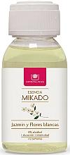 Perfumería y cosmética Ambientador Mikado con aroma a jazmín y flores blancas (relleno) - Cristalinas Reed Diffuser Refill
