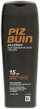Perfumería y cosmética Loción protectora solar corporal para pieles sensibles al sol, SPF 15 - Piz Buin Allergy Sun Sensitive Skin Lotion SPF15