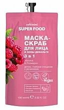 Perfumería y cosmética Mascarilla natural exfoliante para rostro y escote con extracto de romero y frambuesa - Cafe Mimi Super Food