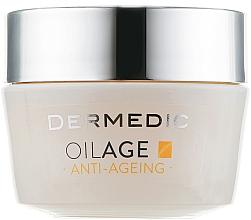 Perfumería y cosmética Crema de noche antiedad con ácido hialurónico y glicerina - Dermedic Oilage Repairing Night Cream
