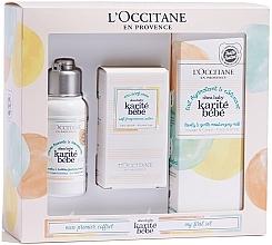 Perfumería y cosmética L'Occitane Karite Bebe - Set para bebés (eau de parfum/50ml + crema limpiadora espumosa/75ml + leche corporal hidratante/100ml)