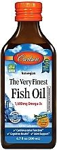 Perfumería y cosmética Complemento alimenticio de Aceite de Pescado Omega 3 con sabor a naranja, en líquido 1600 mg - Carlson Labs The Very Finest Fish Oil
