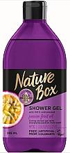 Perfumería y cosmética Gel de ducha con aceite de maracuyá prensado en frío - Nature Box Passion Fruit oil Shower Gel