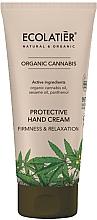 Perfumería y cosmética Crema de manos con aceite de cáñamo orgánico y sésamo - Ecolatier Organic Cannabis Protective Hand Cream
