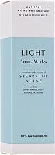 Perfumería y cosmética Ambientador spray con aroma a menta y lima - AromaWorks Light Range Room Mist