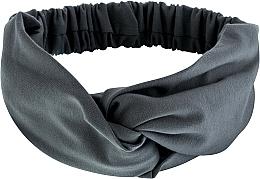 """Perfumería y cosmética Cinta de pelo de tela en gris """"Knit Twist"""" - MakeUp Hair Accessories"""
