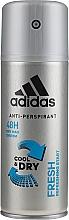 Perfumería y cosmética Desodorante antitranspirante fresco con polvo de algodón - Adidas Anti-Perspirant Fresh Cool & Dry 48H