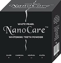Perfumería y cosmética Polvo dental blanqueador con carbón activado, plata coloidal, extracto de mentol y xilitol - VitalCare White Pearl NanoCare Charcoal Teeth Powder