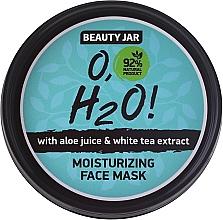 Perfumería y cosmética Mascarilla facial natural con jugo de aloe y extracto de té blanco - Beauty Jar O,H2O Moisturizing Face Mask