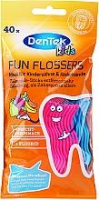 Perfumería y cosmética Flossers infantiles, aroma frutal, rosa y azul - DenTek Kids Fruit Fun Flossers