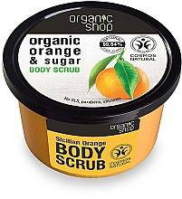 Perfumería y cosmética Exfoliante corporal de azúcar y aceite orgánico de naranja - Organic Shop Body Scrub Organic Orange & Sugar