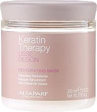 Perfumería y cosmética Mascarilla capilar con queratina, colágeno y aceite de babasú - Alfaparf Lisse Design Keratin Therapy Rehydrating Mask