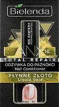 Perfumería y cosmética Tratamiento para uñas dañadas con partículas de oro - Bielenda Liquid Gold Nail Conditioner